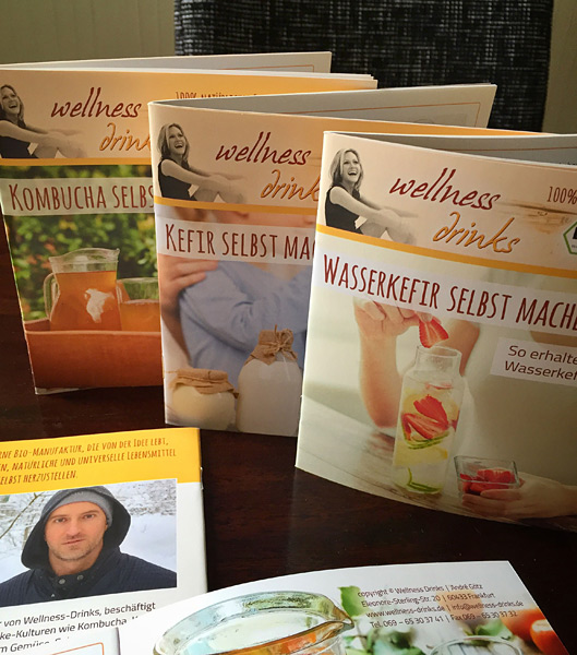 Wellness-Drinks: Step by step manuals for Kombucha, Kefir and Water Kefir